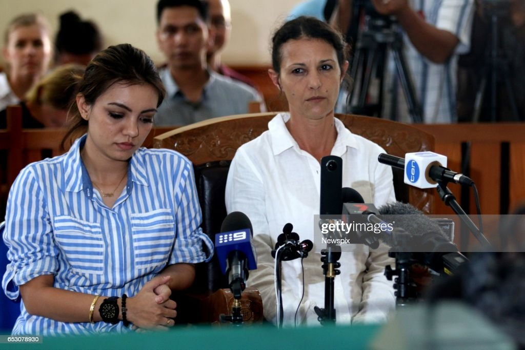 BALI, INDONESIA - (EUROPE AND AUSTRALASIA OUT) Sara Connor (R) listens to the sentencing at the Denpasar District Court in Bali, Indonesia. Sara was sentenced to 4 years for her role in the killing of a Bali police officer.