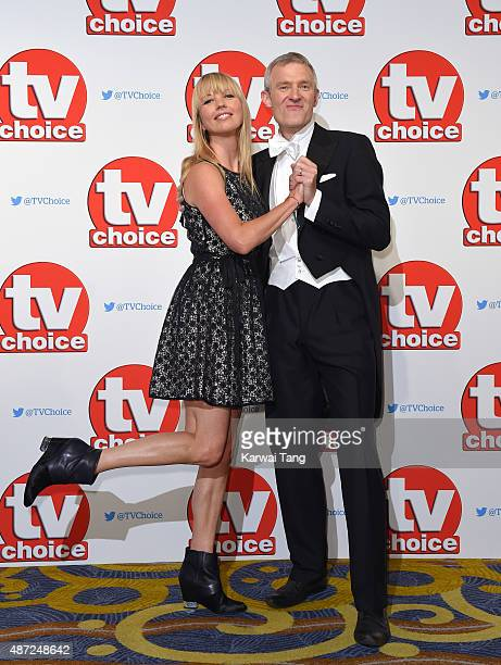Sara Cox and Jeremy Vine attend the TV Choice Awards 2015 at Hilton Park Lane on September 7 2015 in London England