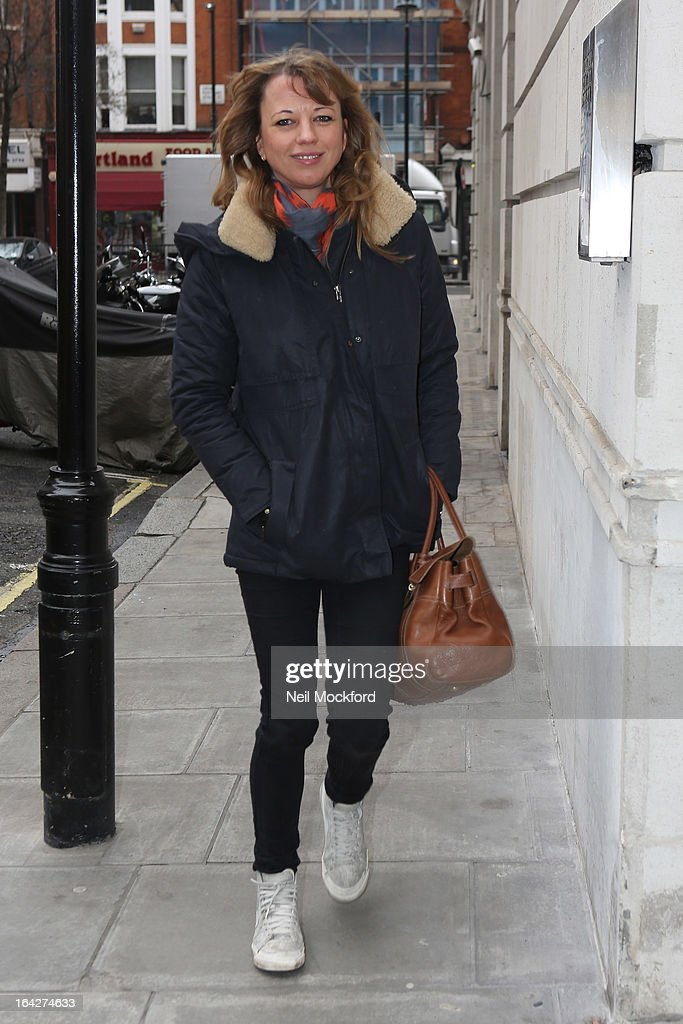 Sara Cox seen at BBC Radio One on March 22, 2013 in London, England.