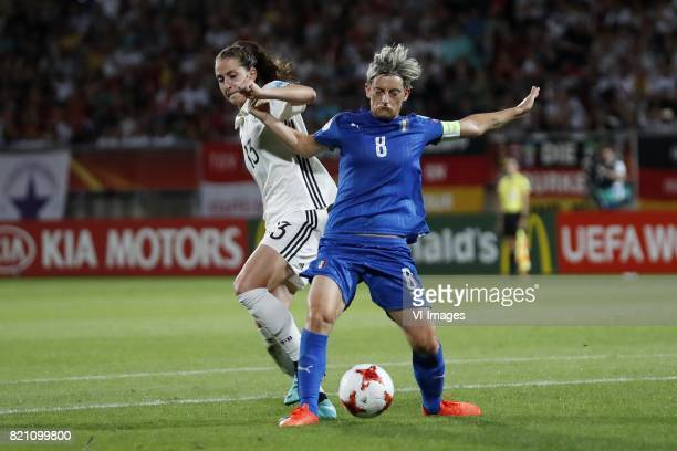 Sara Dabritz of Germany women Melania Gabbiadini of Italy Women during the UEFA WEURO 2017 Group B group stage match between Germany and Italy at...