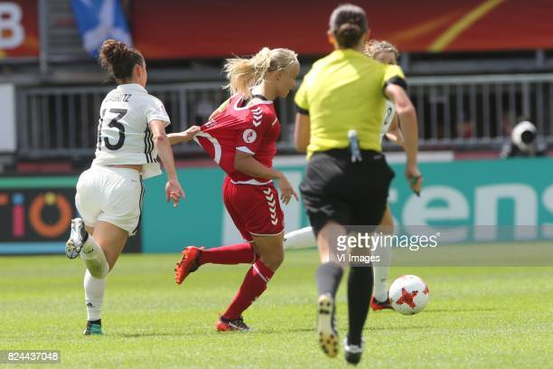 Sara Dabritz of Germany women Pernille Harder of Denmark women during the UEFA WEURO 2017 quarter finale match between Germany and Denmark at the...