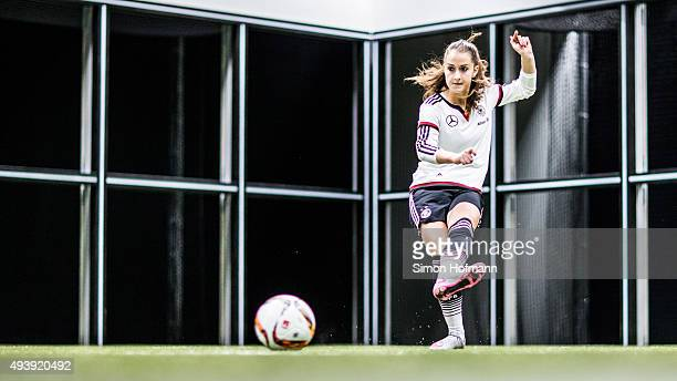 Sara Daebritz attends a Germany Women's Footbonaut Training Session at on October 23 2015 in Zuzenhausen Germany