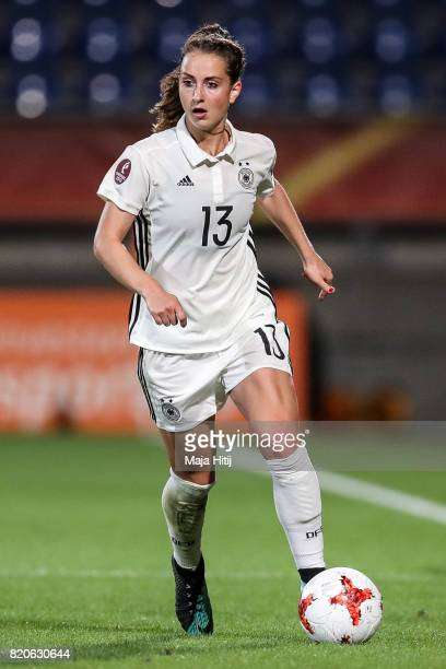Sara Daebritz of Germany controls the ball during the UEFA Women's Euro 2017 at Koning Willem II Stadium on July 21 2017 in Tilburg Netherlands