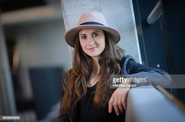 Sara Daebritz of Germany poses for a portrait during the DFB Ladies Marketing Day at Commerzbank Arena on April 3 2017 in Frankfurt am Main Germany