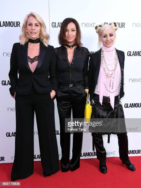 Sara Dallin Keren Woodward and Siobhan Fahey of Bananarama attend the Glamour Women of The Year Awards 2017 at Berkeley Square Gardens on June 6 2017...