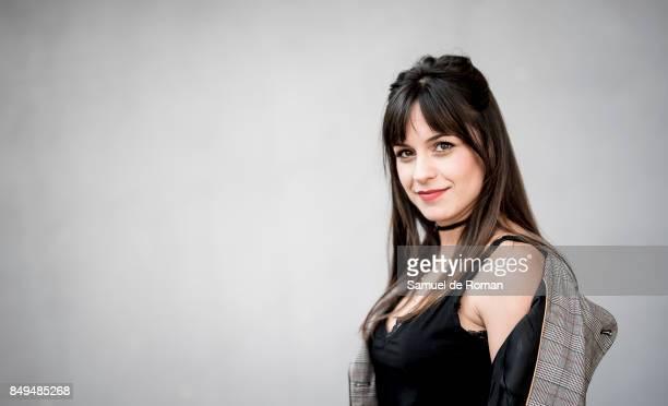 Sara de la Rosa Osorio wears Pilar Prieto jacket Stradivarius jeans Pull and Bear Shoes and Woman Secret Tshirt during MercedesBenz Fashion Week...