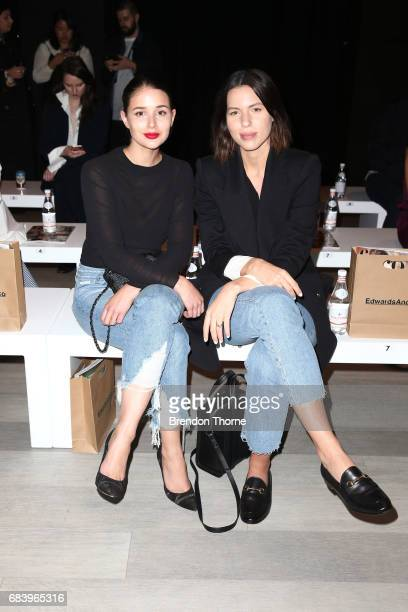 Sara Donaldson and Kaitlyn Ham arrive ahead of the ANNA QUAN show at MercedesBenz Fashion Week Resort 18 Collections at Carriageworks on May 17 2017...