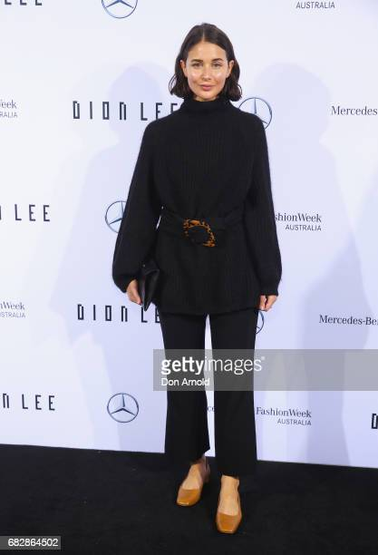 Sara Donaldson arrives ahead of the MercedesBenz Presents Dion Lee show at MercedesBenz Fashion Week Resort 18 Collections at the Sydney Opera House...