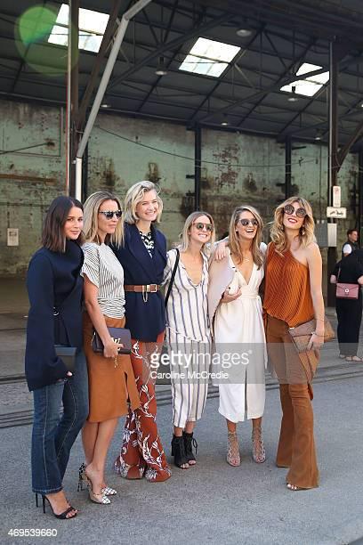 Sara Donaldson Mandy Shadforth Zanita Whittington Nadia Fairfax Kate Waterhouse and Tanya G attend MercedesBenz Fashion Week Australia 2015 at...