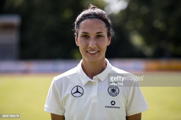 Sara Doorsoun poses during Germany Women's Team Presentation on July 6 2017 in Heidelberg Germany