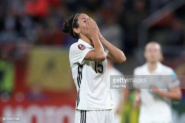 Sara DoorsounKhajeh of Germany reacts during the Group B match between Russia and Germany during the UEFA Women's Euro 2017 at Stadion Galgenwaard on...