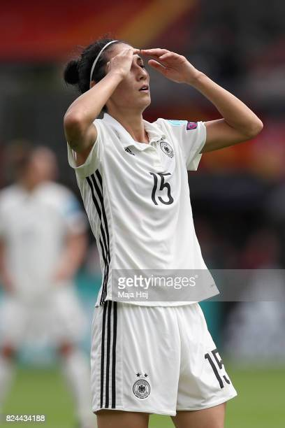Sara DoorsounKhajeh of Germany reacts during the UEFA Women's Euro 2017 Quarter Final match between Germany and Denmark at Sparta Stadion on July 30...