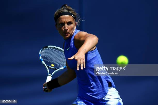 Sara Errani of Italy in action during her women's qualifying match against Veronica Cepede Royg of Paraguay during qualifying on day one of the Aegon...