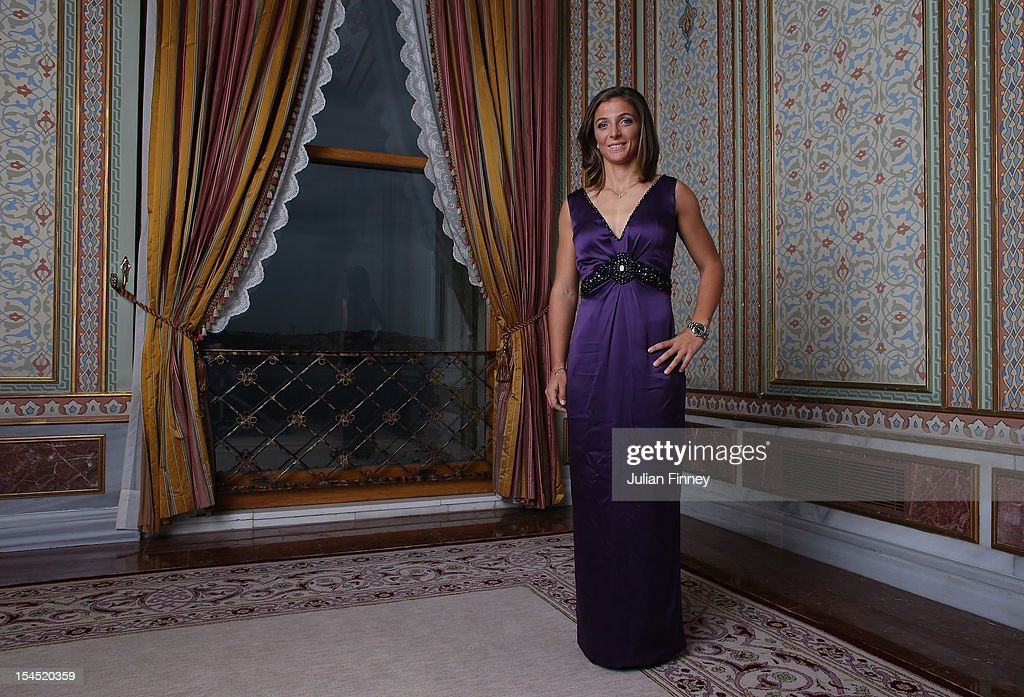 Sara Errani of Italy poses for a portrait during previews for the TEB BNP Paribas WTA Championships Istanbul on October 21 2012 in Istanbul Turkey
