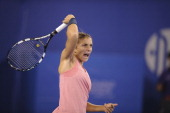 Sara Errani of Italy returns a ball to Petra Kvitova of Czech Republic on day five of the 2013 China Open at National Tennis Center on October 2 2013...