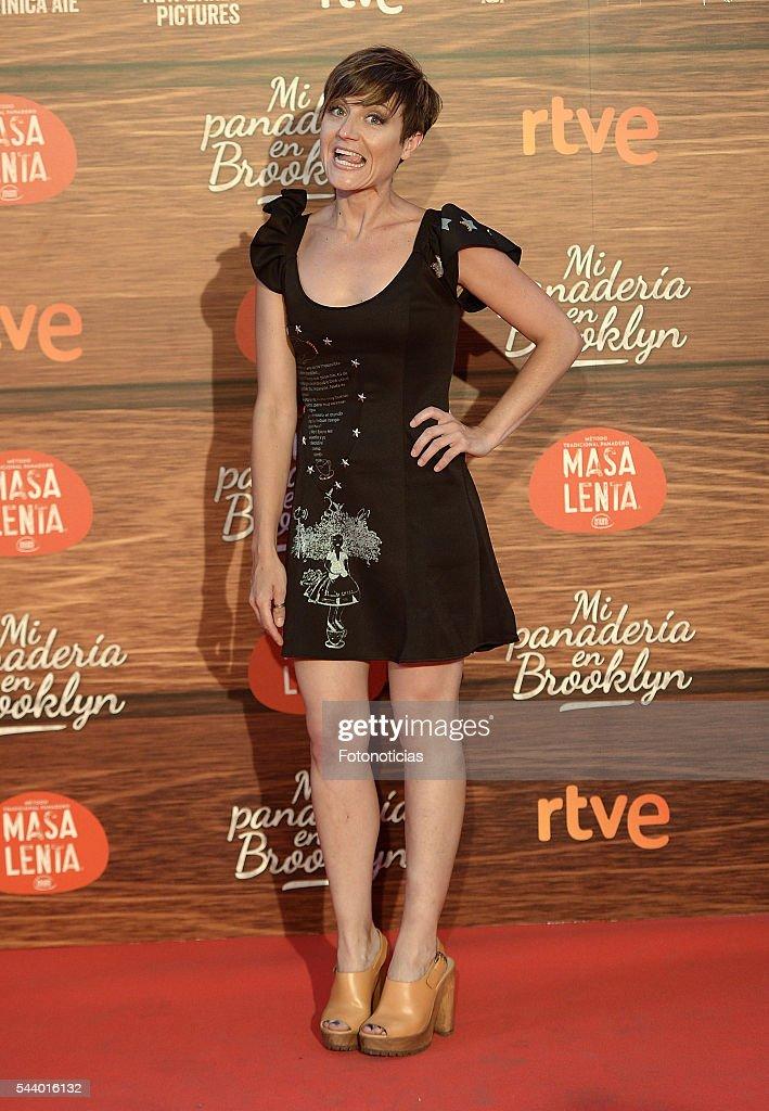 Sara Escudero attends the 'Mi Panaderia de Brooklyn' premiere at Capitol cinema on June 30, 2016 in Madrid, Spain.