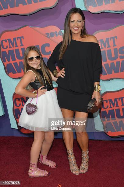Sara Evans and Audrey attend the 2014 CMT Music awards at the Bridgestone Arena on June 4 2014 in Nashville Tennessee