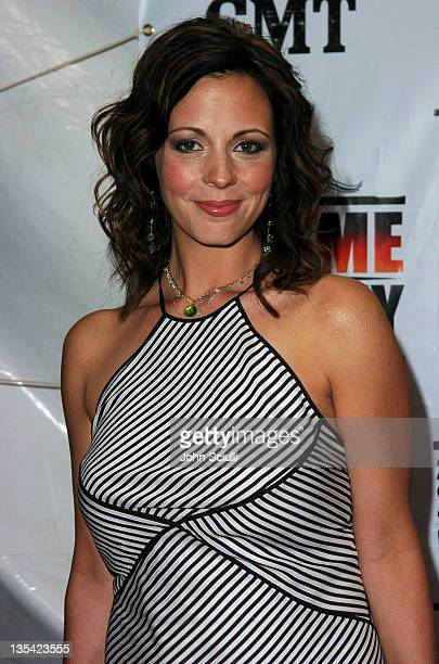 Sara Evans during CMT 2004 Flame Worthy Video Music Awards Arrivals at Gaylord Entertainment Center in Nashville Tennessee United States