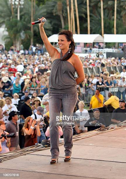 Sara Evans during The Inaugural Stagecoach Country Music Festival Day 1 at Empire Polo Field in Indio California United States