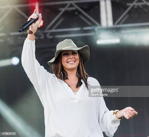 Sara Evans performs on stage at KSU Sports and Entertainment Park on May 17 2015 in Atlanta Georgia