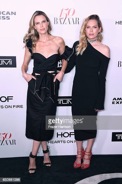 Sara Foster and Erin Foster attend Harper's BAZAAR celebration of the 150 Most Fashionable Women presented by TUMI in partnership with American...