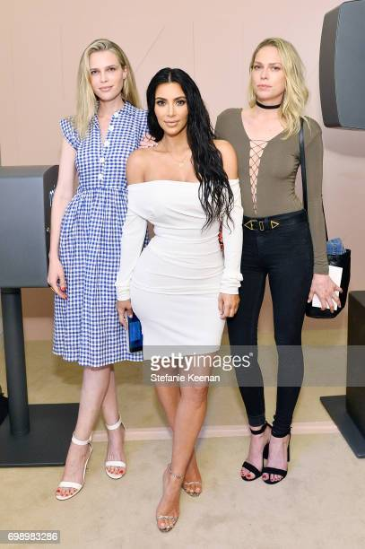 Sara Foster Kim Kardashian West and Erin Foster celebrate The Launch Of KKW Beauty on June 20 2017 in Los Angeles California