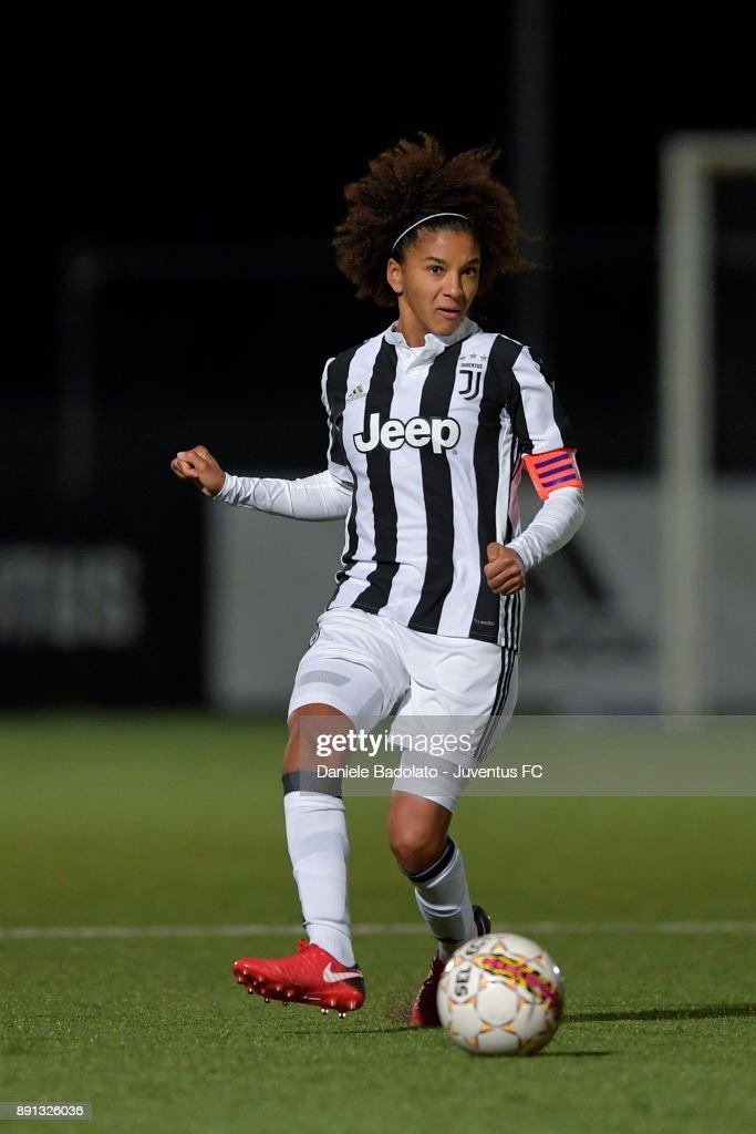Sara Gama during the Juventus Women v Fiorentina match at Juventus Center Vinovo on December 8, 2017 in Vinovo, Italy.