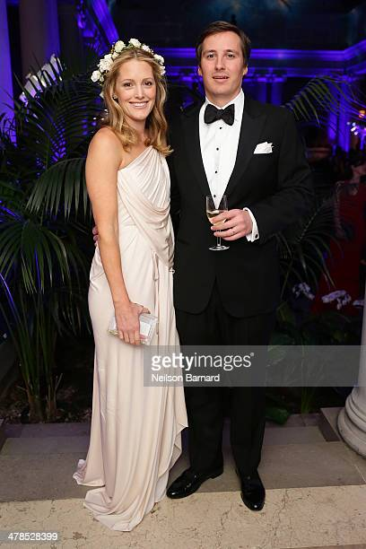 Sara Gilbane Sullivan and Jay Sullivan attend the Young Fellows Celestial Ball presented by PAULE KA at The Frick Collection on March 13 2014 in New...