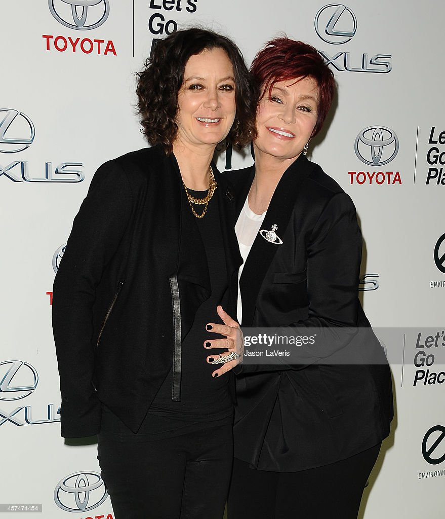 <a gi-track='captionPersonalityLinkClicked' href=/galleries/search?phrase=Sara+Gilbert&family=editorial&specificpeople=585732 ng-click='$event.stopPropagation()'>Sara Gilbert</a> and <a gi-track='captionPersonalityLinkClicked' href=/galleries/search?phrase=Sharon+Osbourne&family=editorial&specificpeople=203094 ng-click='$event.stopPropagation()'>Sharon Osbourne</a> attend the 2014 Environmental Media Awards at Warner Bros. Studios on October 18, 2014 in Burbank, California.