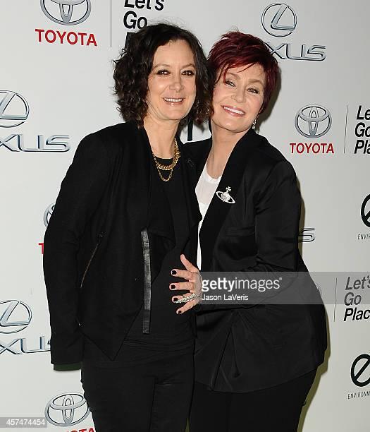 Sara Gilbert and Sharon Osbourne attend the 2014 Environmental Media Awards at Warner Bros Studios on October 18 2014 in Burbank California