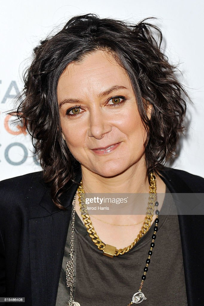 <a gi-track='captionPersonalityLinkClicked' href=/galleries/search?phrase=Sara+Gilbert&family=editorial&specificpeople=585732 ng-click='$event.stopPropagation()'>Sara Gilbert</a> arrives at the Family Equality Council's Impact Awards at The Beverly Hilton Hotel on March 12, 2016 in Beverly Hills, California.