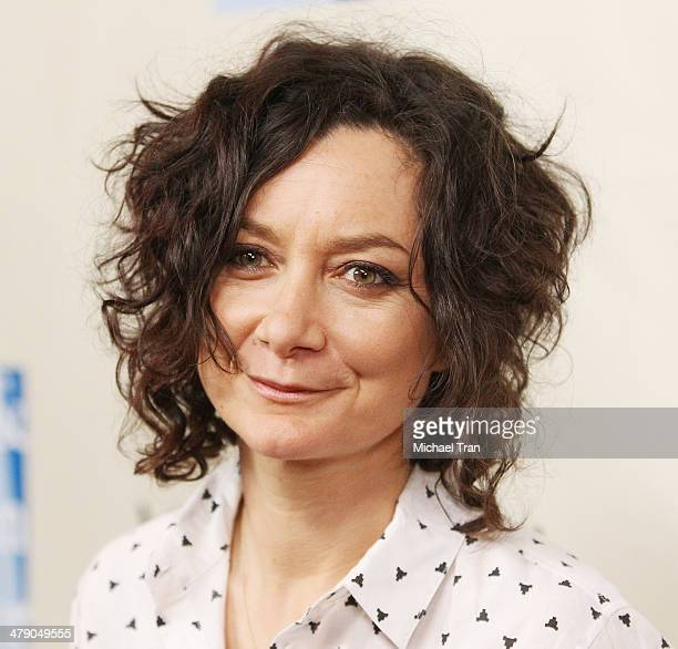 Sara Gilbert arrives at the LA Gay Lesbian Center presents An Evening with Women kickoff concert held at The Roxy Theatre on March 15 2014 in West...