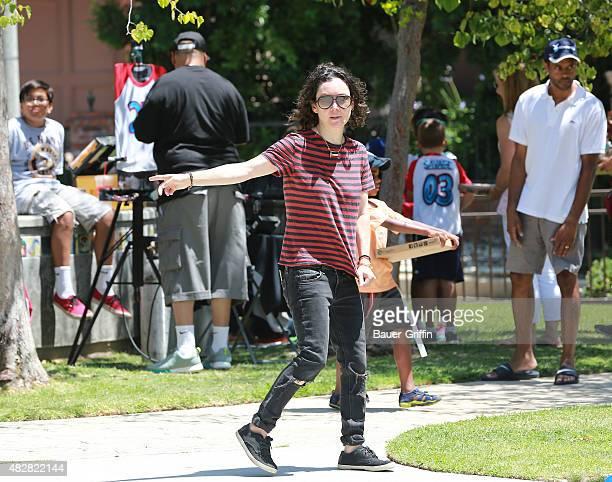 Sara Gilbert is seen on August 02 2015 in Los Angeles California