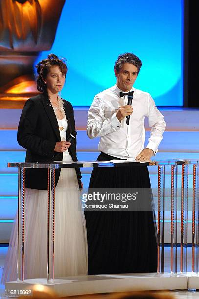 Sara Giraudeau and James Thierree attend XXIIeme Nuit Des Molieres at the Folies Bergeres on April 282008 Paris France