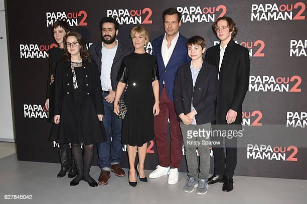 Sara Giraudeau Anna Lemarchand Jonathan Cohen Marina Fois Laurent Lafitte Achille Potier and Alexandre Desrousseaux attend the 'Papa ou Maman 2'...