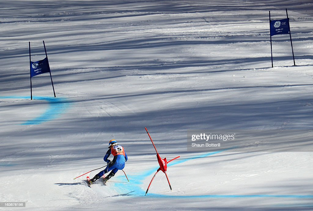 Sara Hector of Sweden competes in the Ladies' Giant Slalom at Rosa Khutor Alpine Center on March 14, 2013 in Sochi, Russia.