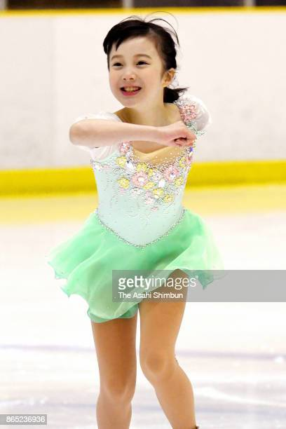 Sara Honda competes in the Novice B Girls during day two of the 21st All Japan Figure Skating Novice Championships at Shiga Prefecture Ice Arena on...