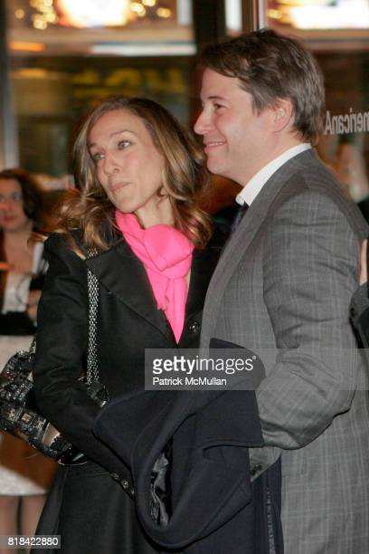 Sara Jessica Parker and Matthew Broderick attend Opening Night of Present Laughter at American Airlines Theater on January 21 2010 in New York City