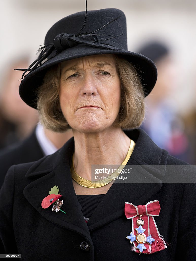 Sara Jones (wife of the late Colonel H Jones) attends the opening of The Field of Remembrance at Westminster Abbey on November 08, 2012 in London, England.
