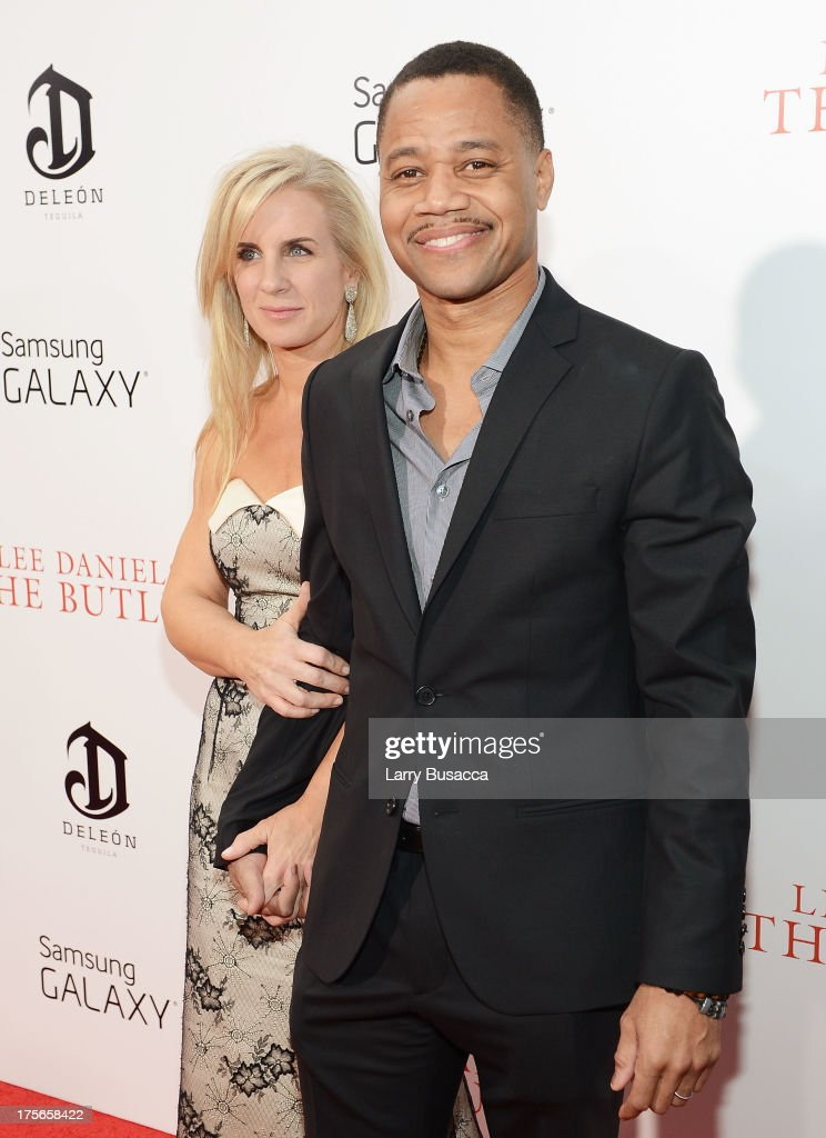 Sara Kapfer (L) and actor <a gi-track='captionPersonalityLinkClicked' href=/galleries/search?phrase=Cuba+Gooding+Jr.&family=editorial&specificpeople=208232 ng-click='$event.stopPropagation()'>Cuba Gooding Jr.</a> attend Lee Daniels' 'The Butler' New York premiere, hosted by TWC, DeLeon Tequila and Samsung Galaxy on August 5, 2013 in New York City.