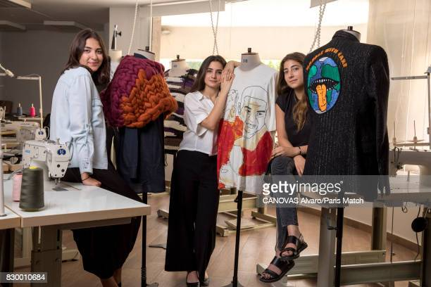Sara Kayal Dania Mahdi and Rafah Seoud the students of the Lebanese American University are photographed for Paris Match on June 24 2017 in Beirut...