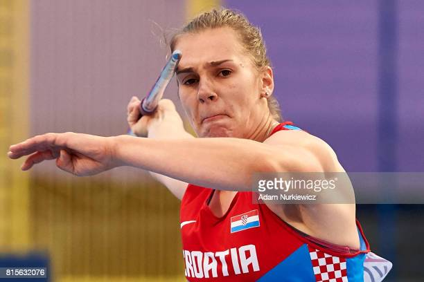 Sara Kolak from Croatia competes in women's javelin final during Day 4 of European Athletics U23 Championships 2017 at Zawisza Stadium on July 16...