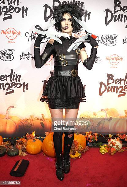 Sara Kulka attends the Halloween party at Berlin Dungeon on October 27 2015 in Berlin Germany
