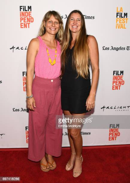Sara Lamm and Jennifer Kasprzycki attend the 'Thank You For Coming' Premiere during 2017 Los Angeles Film Festival at Arclight Cinemas Culver City on...