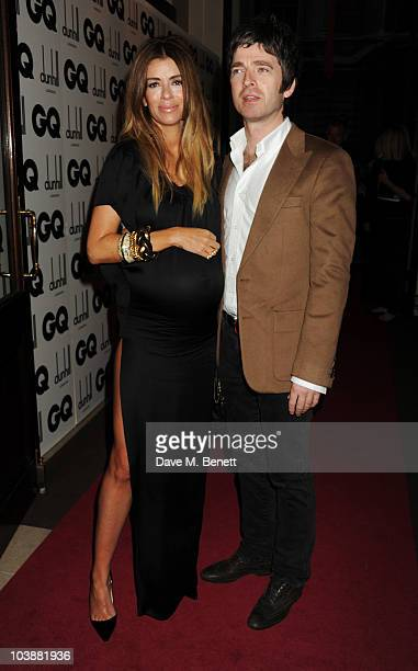 Sara Macdonald and Noel Gallagher arrive at the GQ Men Of The Year Awards 2010 at The Royal Opera House on September 7 2010 in London England