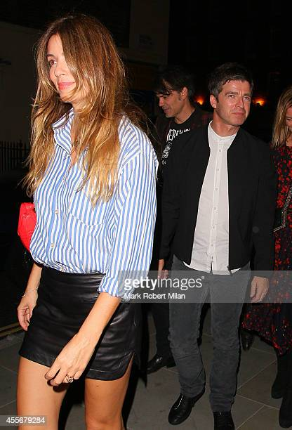 Sara MacDonald and Noel Gallagher at the Chiltern Firehouse on September 18 2014 in London England