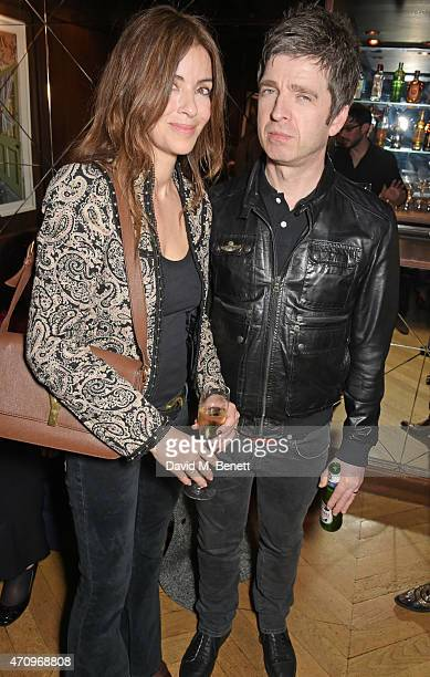 Sara Macdonald and Noel Gallagher attend as Collette Cooper previews songs from her upcoming album 'City Of Sin' at The Groucho Club on April 24 2015...