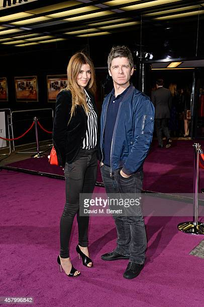 Sara Macdonald and Noel Gallagher attend the screening of the new Annabel's DocuFilm 'A String of Naked Lightbulbs' at The Curzon Mayfair on October...