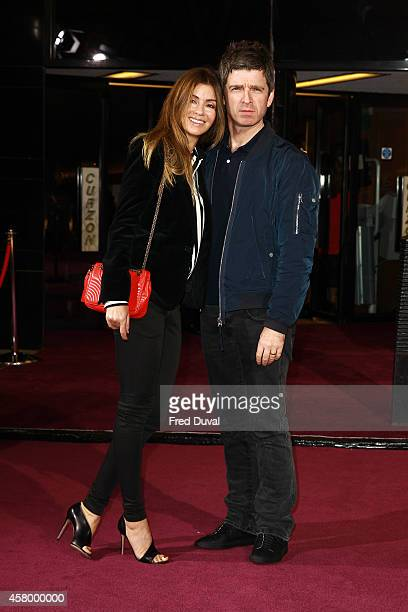 Sara Macdonald and Noel Gallagher attend the screening of the new Annabel's Docu Film 'A String Of Naked Lightbulbs' at Curzon Cinema Mayfair on...