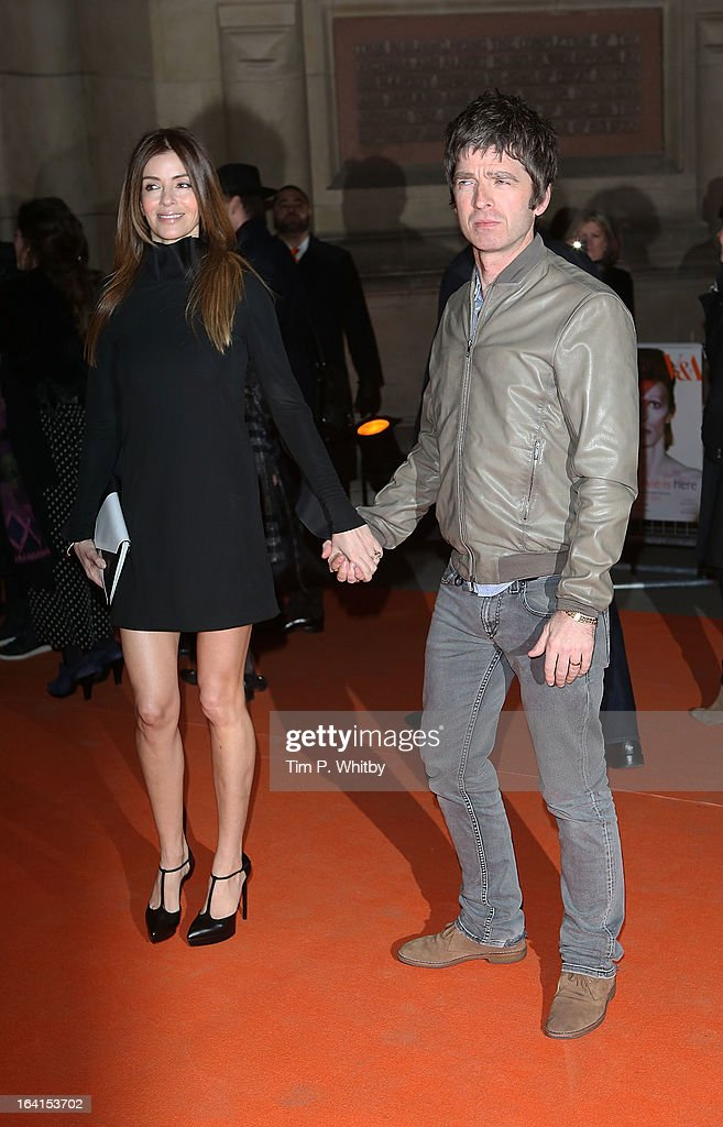 Sara MacDonald and Noel Gallagher attends the private view of 'David Bowie Is' at Victoria & Albert Museum on March 20, 2013 in London, England.